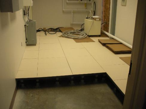 MRI Room Flooring - Fiberglass Grating and Structural Components